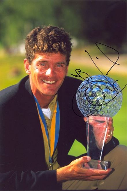 Jesper Parnevik, Swedish golfer,  signed 12x8 inch photo.